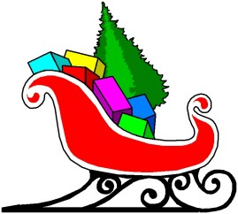 Santa Sleigh And Reindeer Clip Art Picture Tattoos - ClipArt Best ...