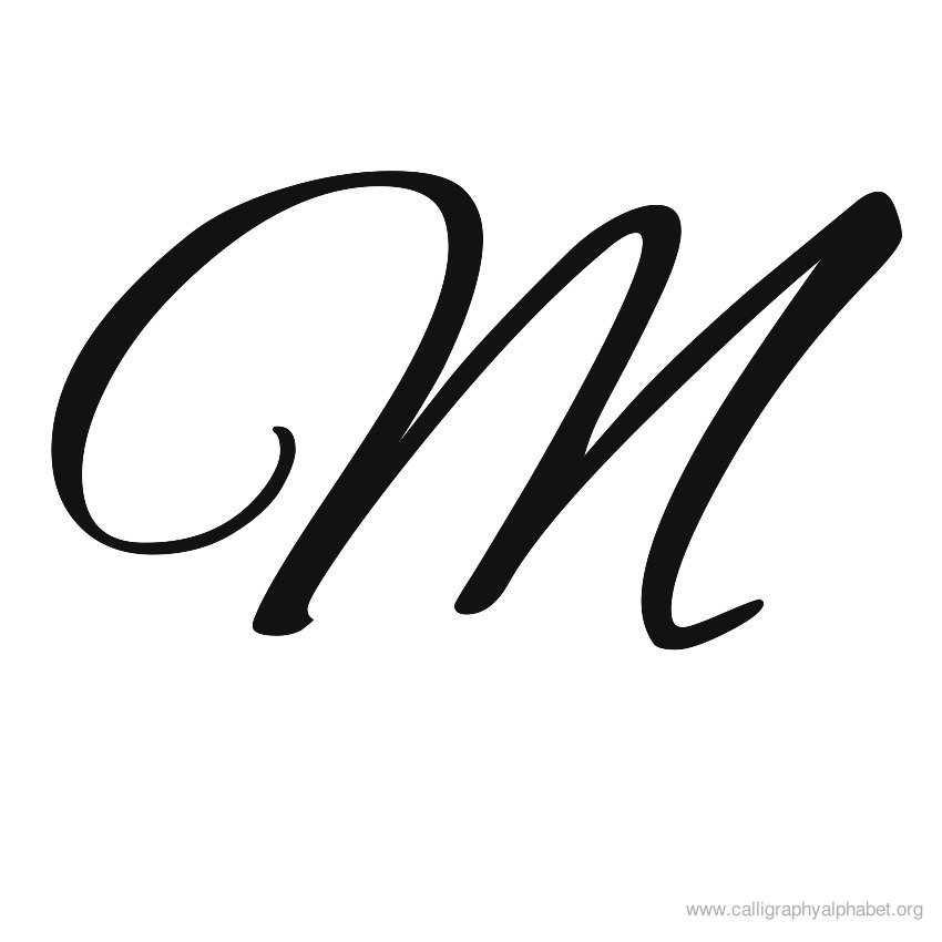 Fancy Letter l Fancy Letter m Calligraphy