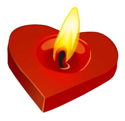 Free Heart-Shaped Candle Clip Art - ClipArt Best - ClipArt Best