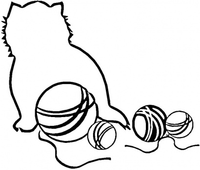 Black Cat And Yarn Coloring Page Super Coloring Clipart Best Clipart Best