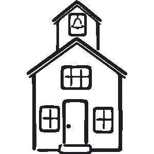 School house clip art black and white clipart best for Best old school house