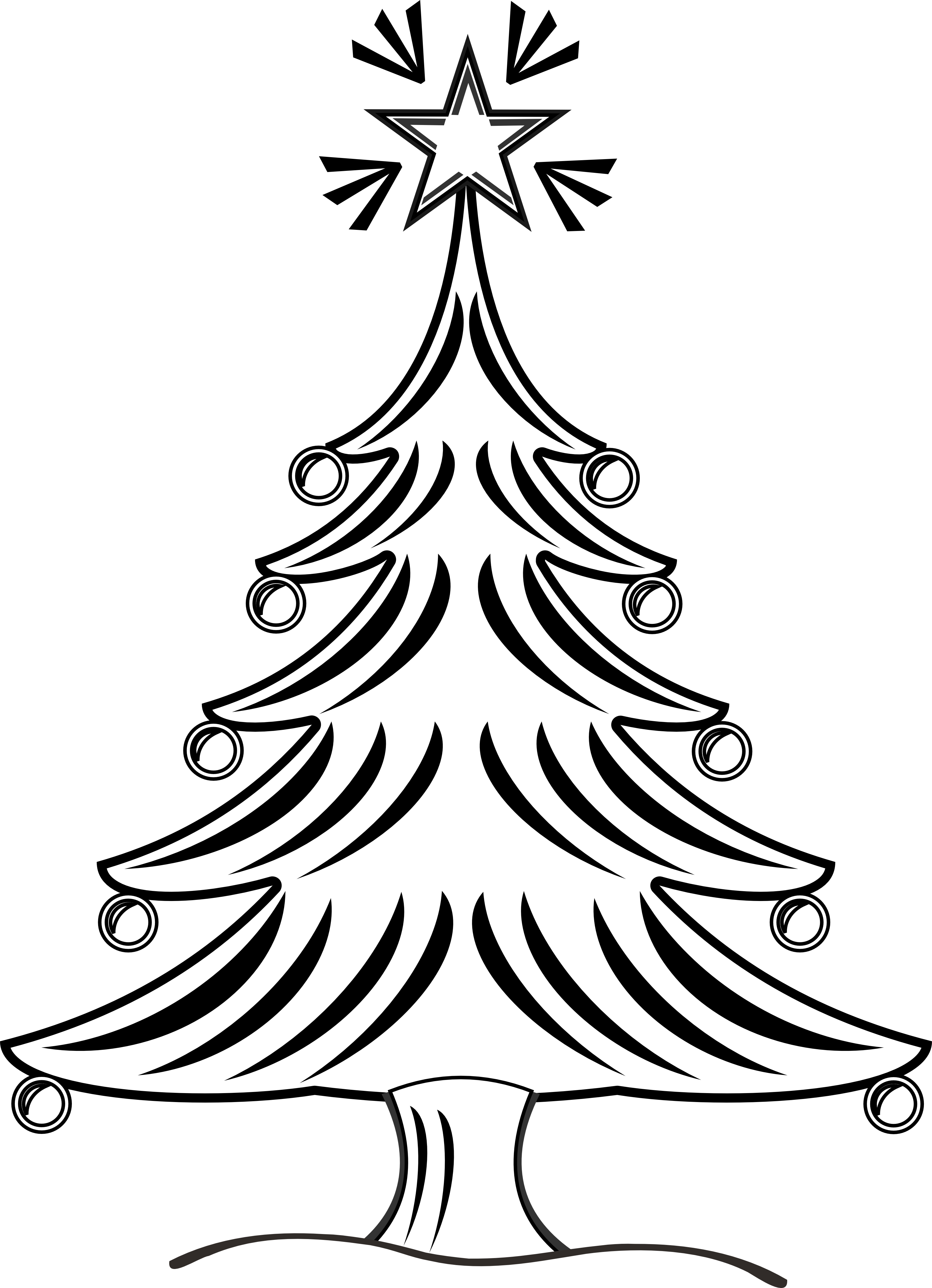 Black And White Christmas Tree Clip Art ClipArt Best