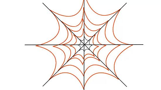 Spider in web drawing - photo#10