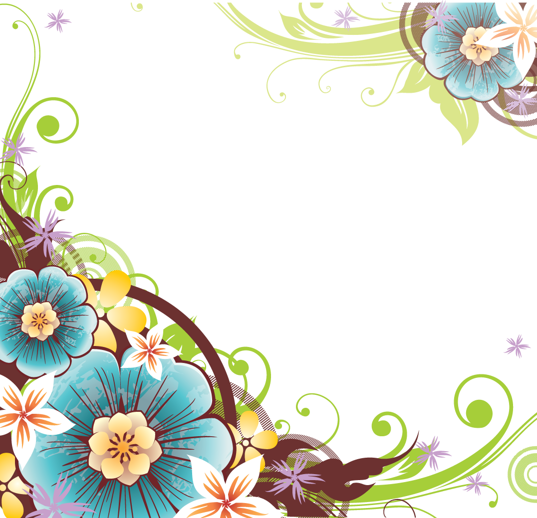 Flower Border Vector - ClipArt Best