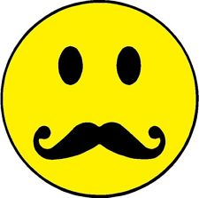 10 smiley face with mustache . Free cliparts that you can download to ...