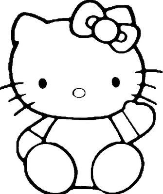 Hello Kitty Cake Template - ClipArt Best