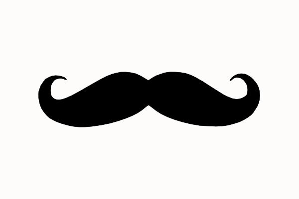 Moustache Black Brand clip art - vector clip art online, royalty ...