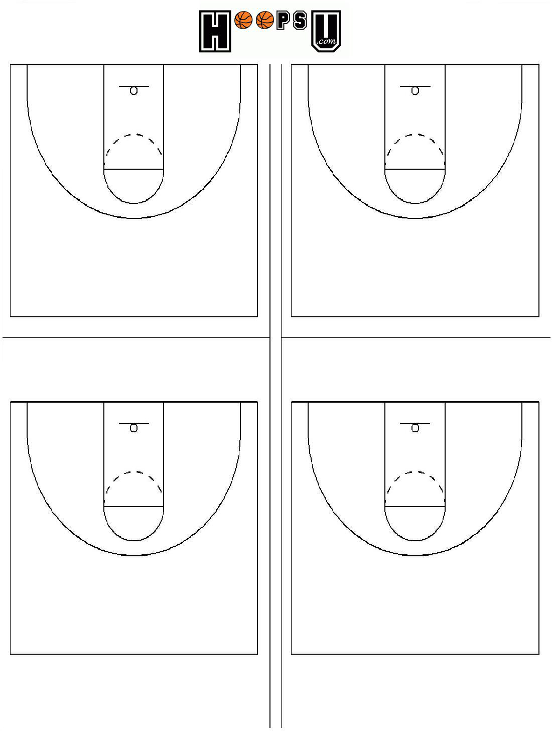 basketball half court diagrams printable   clipart best    basketball playbook  blank volleyball court sheets   blank volleyball court pages  diagram