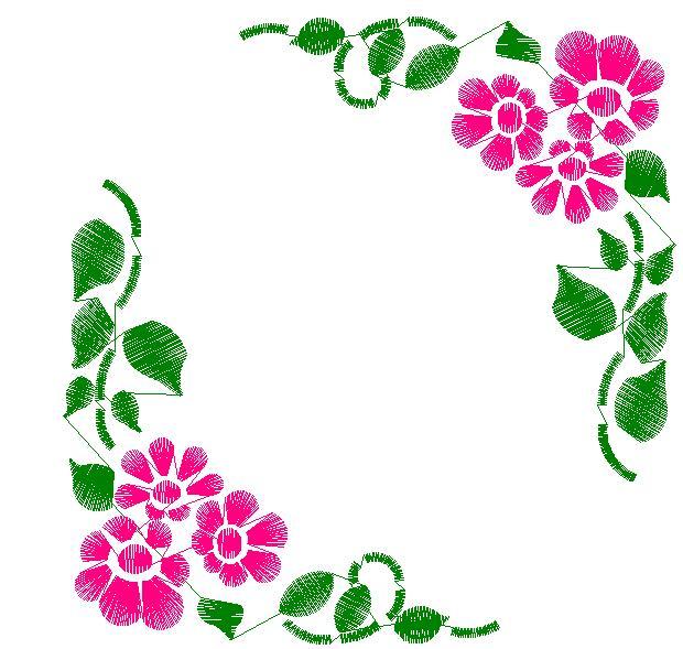 Simple Floral Corner Designs Clipart Best