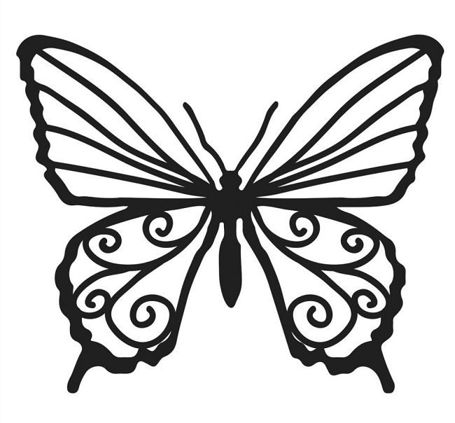 Chocolate butterfly template clipart best for Butterfly template free