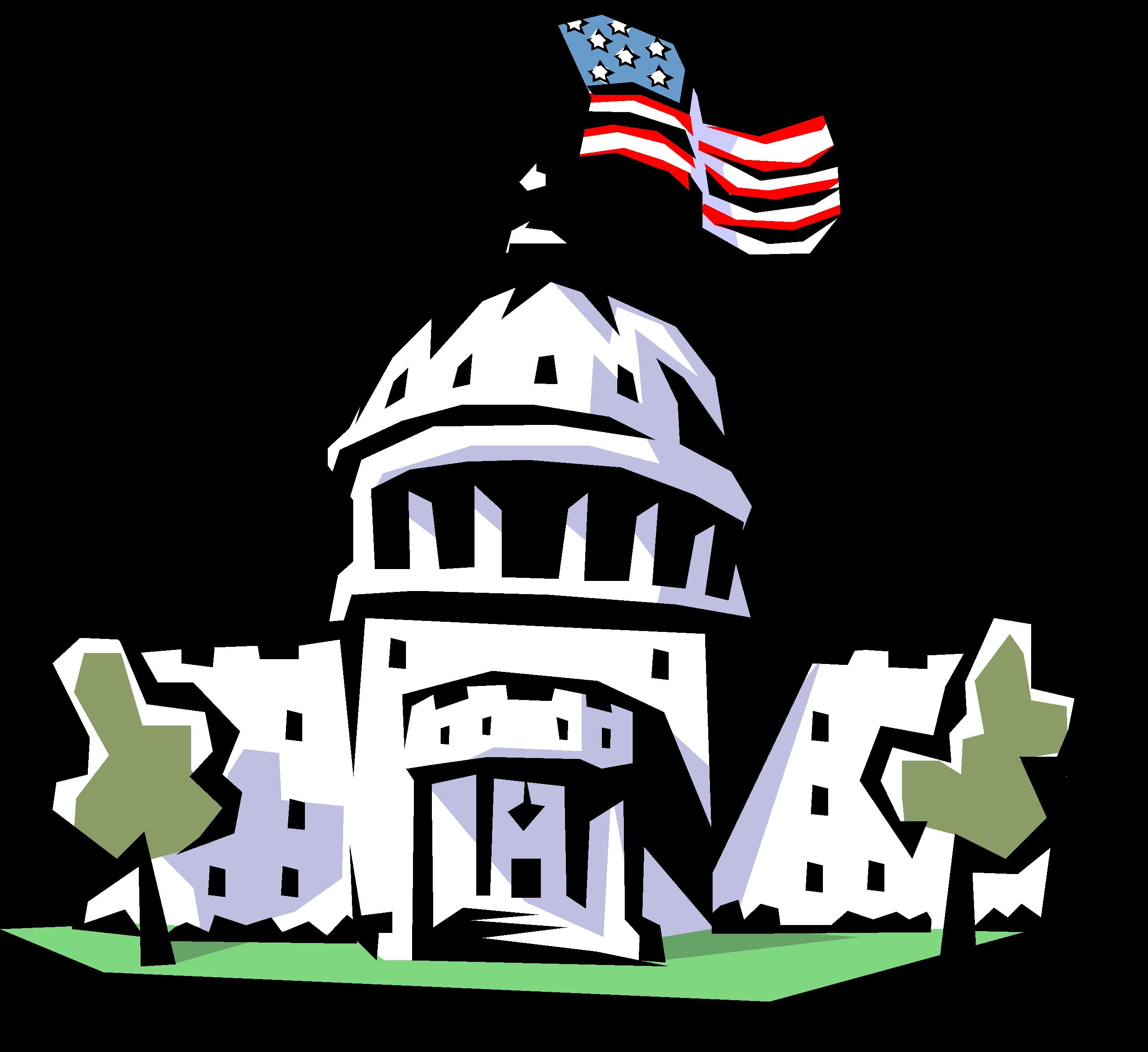 house of representatives and senate clipart drawing