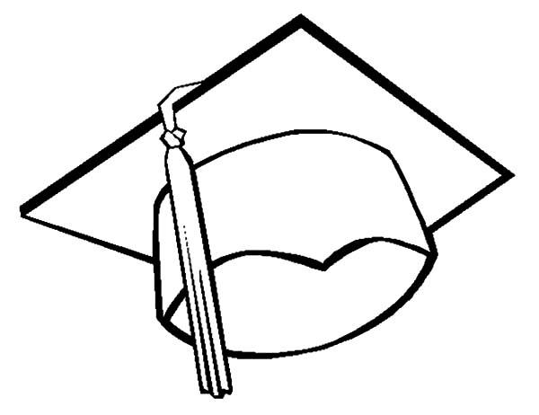 Graduation Cap Coloring Page - ClipArt Best
