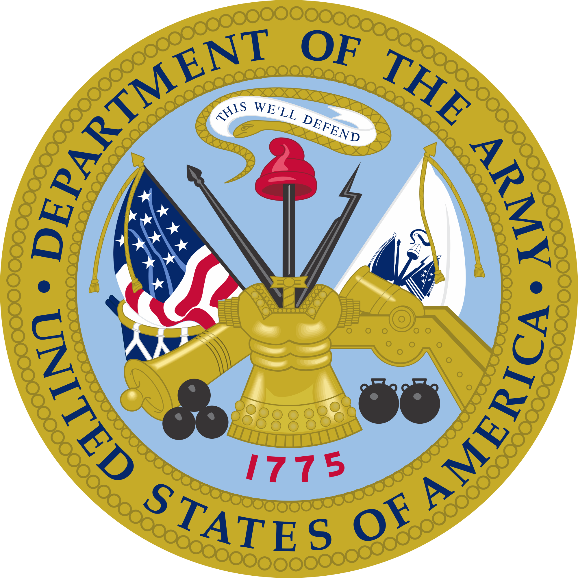 File:Emblem of the United States Department of the Army.svg ...