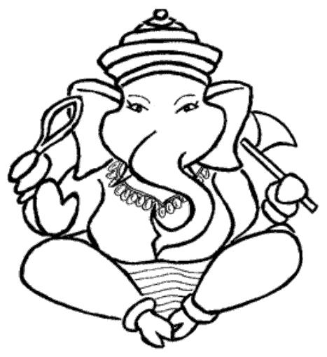 Easy Ganesh Sketch - ClipArt Best