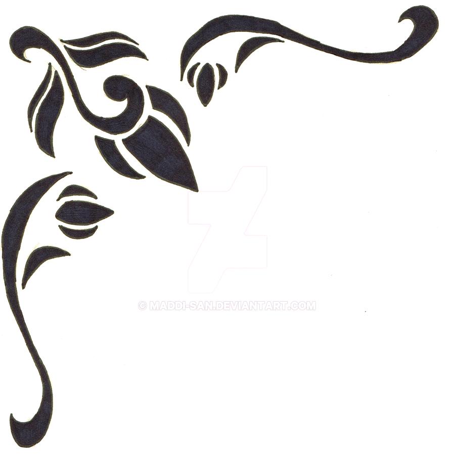 Line Art Design Illustration : Page corner line drawing clipart best