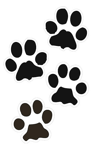 tiger tracks clip art - photo #19