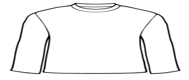 Printable T Shirt Outline - ClipArt Best