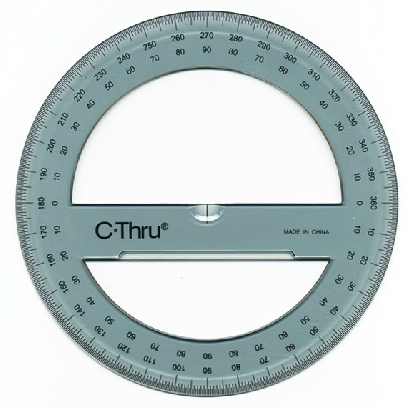 360 Degree Protractor Printable Picture Pictures to pin on Pinterest