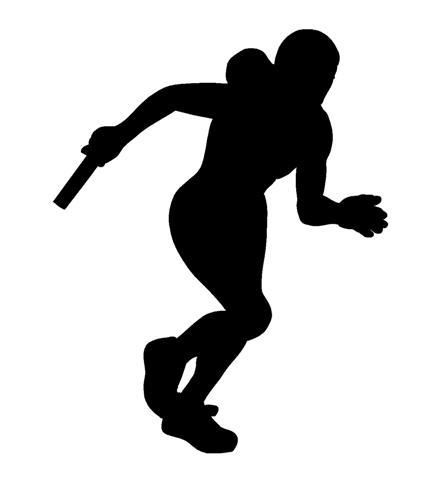 Track Runner Silhouette - ClipArt Best