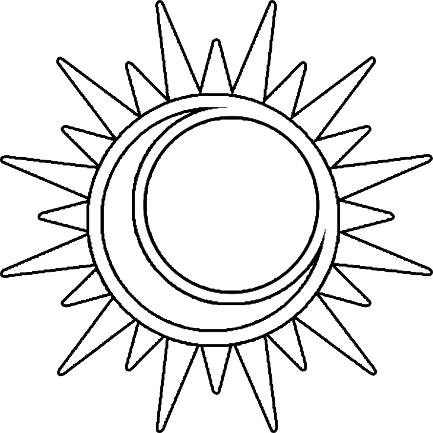 Best Photos of Sun Outline Clip Art - Black and White Sun Outline ...