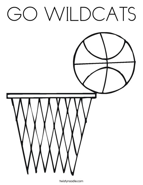 GO WILDCATS Coloring Page - Twisty Noodle