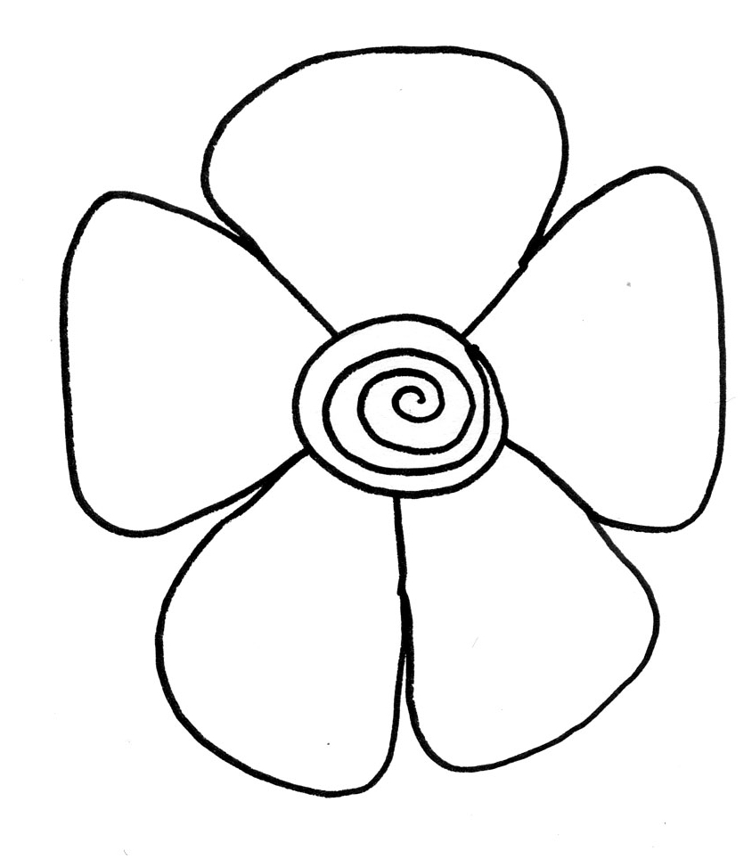 How to draw flowers easy clipart best for Simple flowers for drawing
