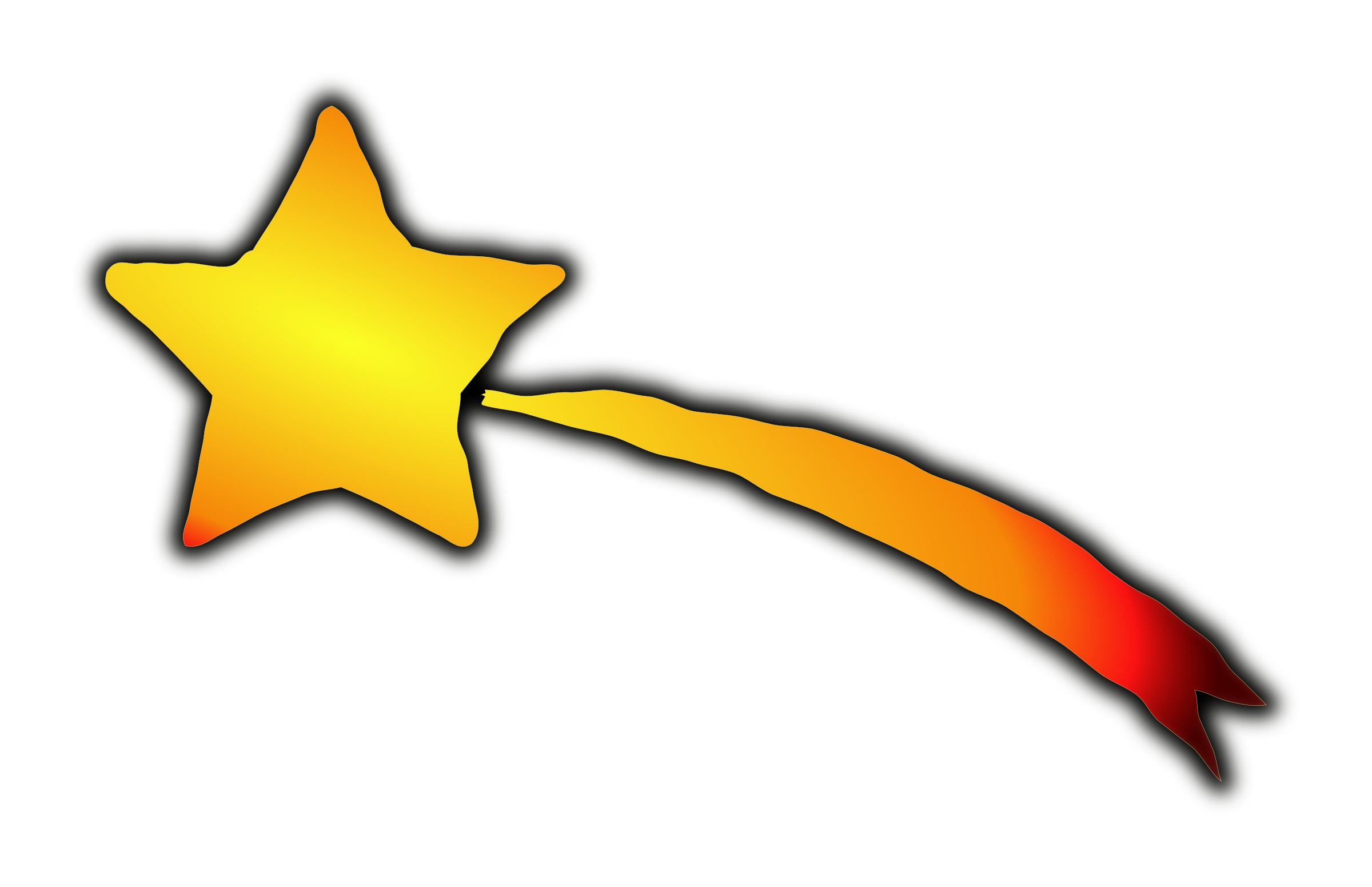 Clipart - Shooting Star