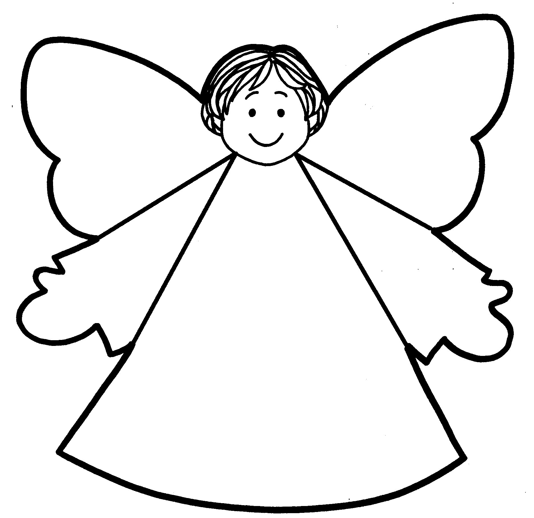 Angel Cut Out Template Clipart Best Tree Toppers Coloring Pages