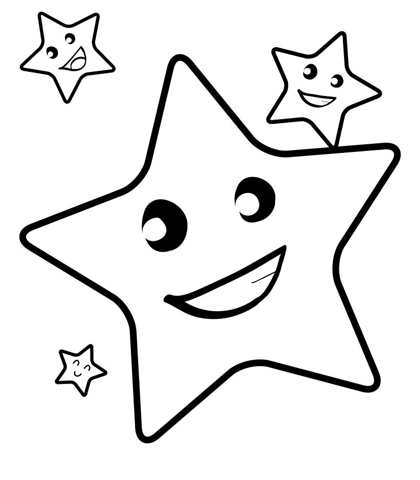 Coloring Pages You Can Color On The Computer : Printable picture of a star clipart best
