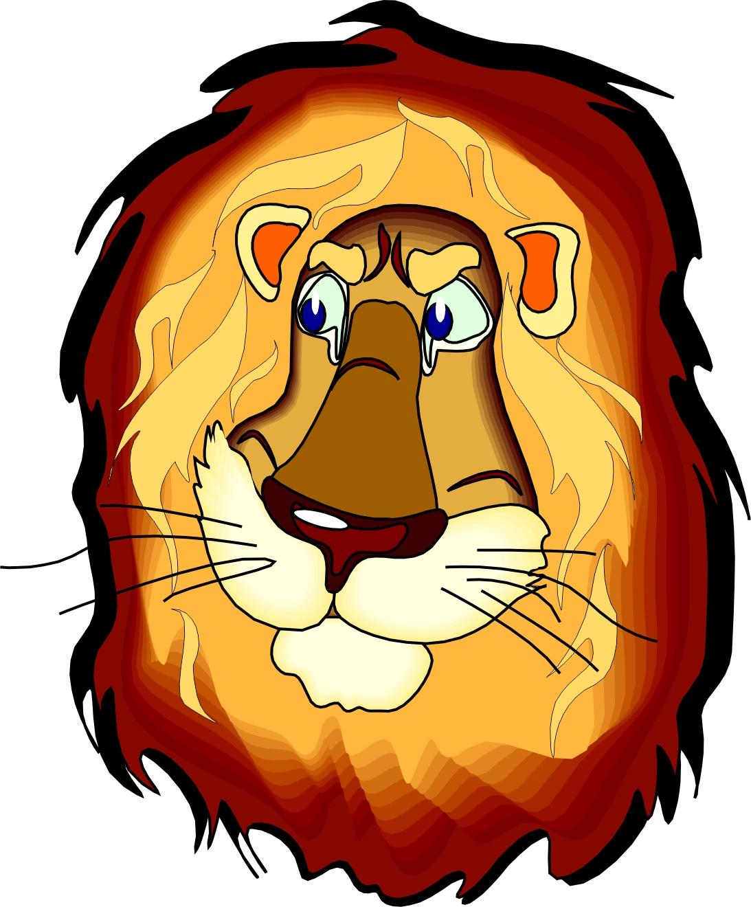 Lion cartoon head - photo#6