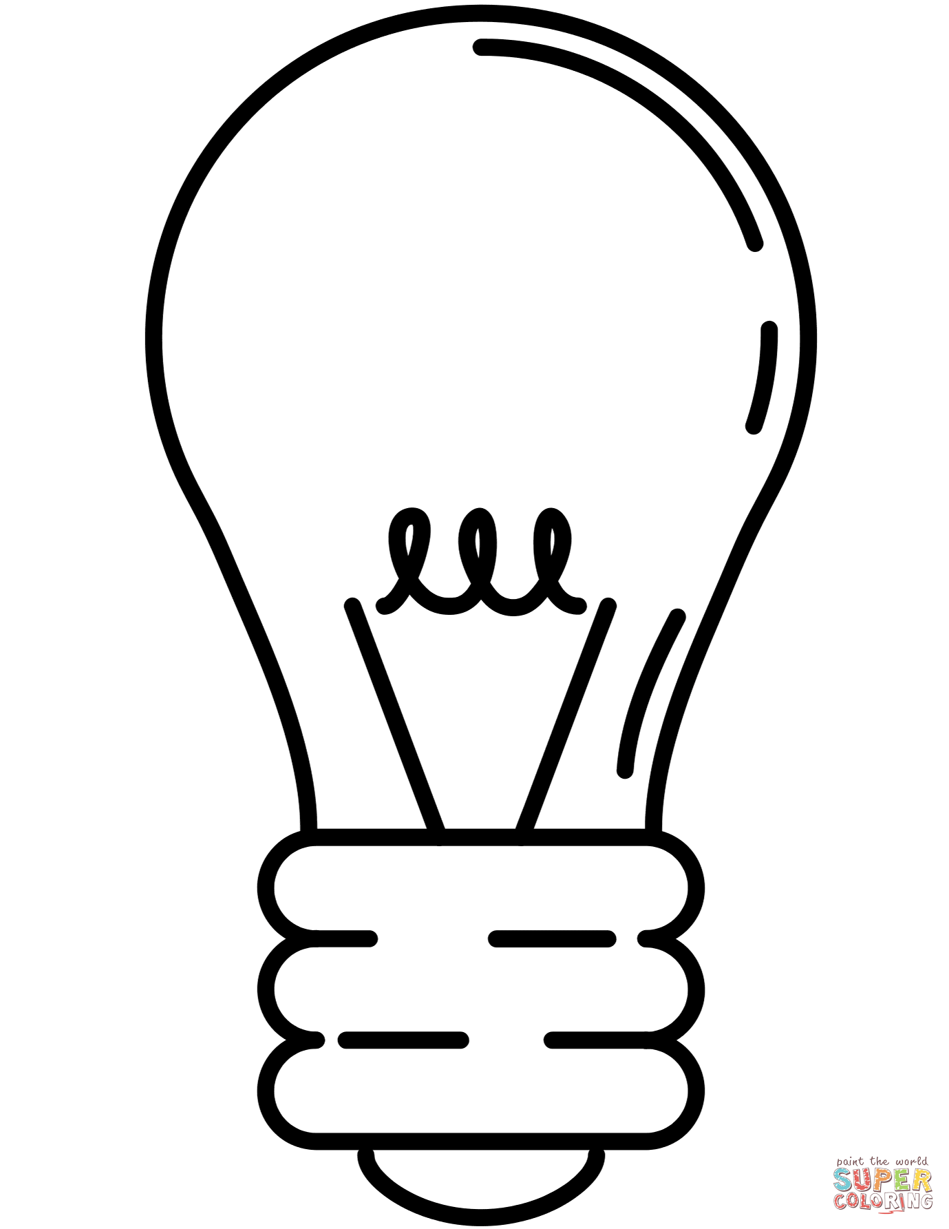 Lightbulb coloring page | Free Printable Coloring Pages