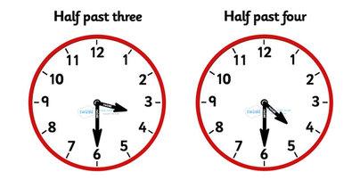 Analogue Clocks - Half Past - Time resource, Time vocaulary, clock ...