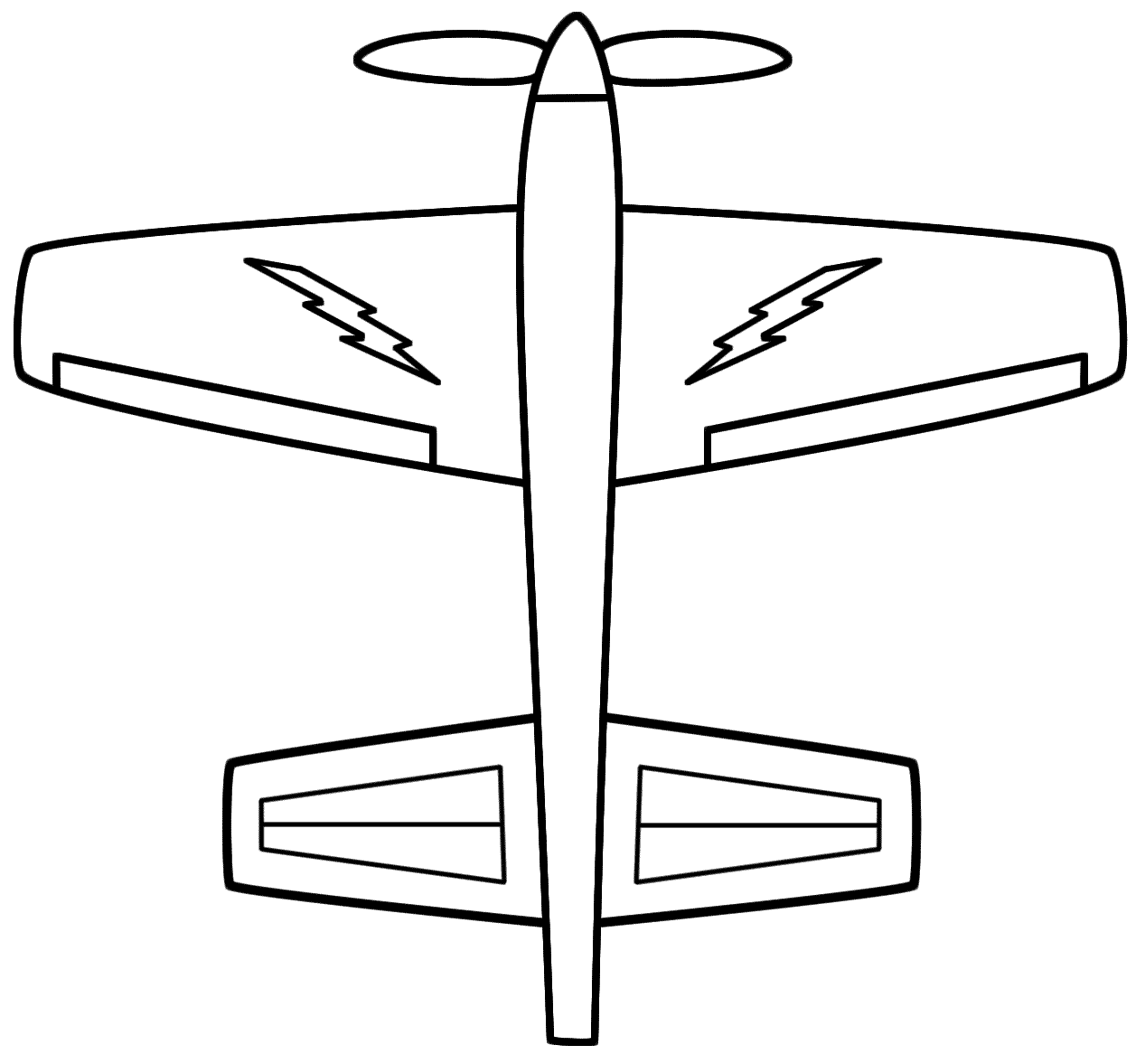 Adult Cute Lightning Bolt Coloring Page Images top educational coloring pages lightning bolts clipart best prop airplane page electric colouring images