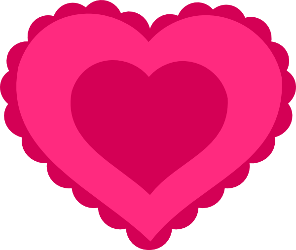 Pink Lace Heart clip art Free Vector
