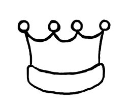 how to draw a princess crown step by step easy