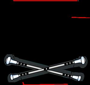 baton majorette crossed clipart best majorette clipart majorette boot clip art