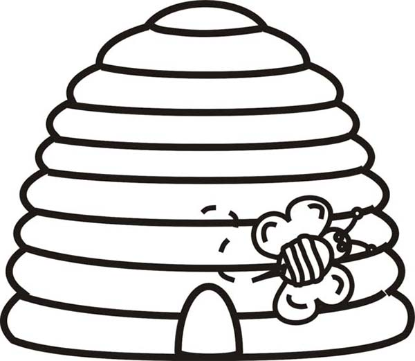 bumble bee hive coloring pages sketch coloring page