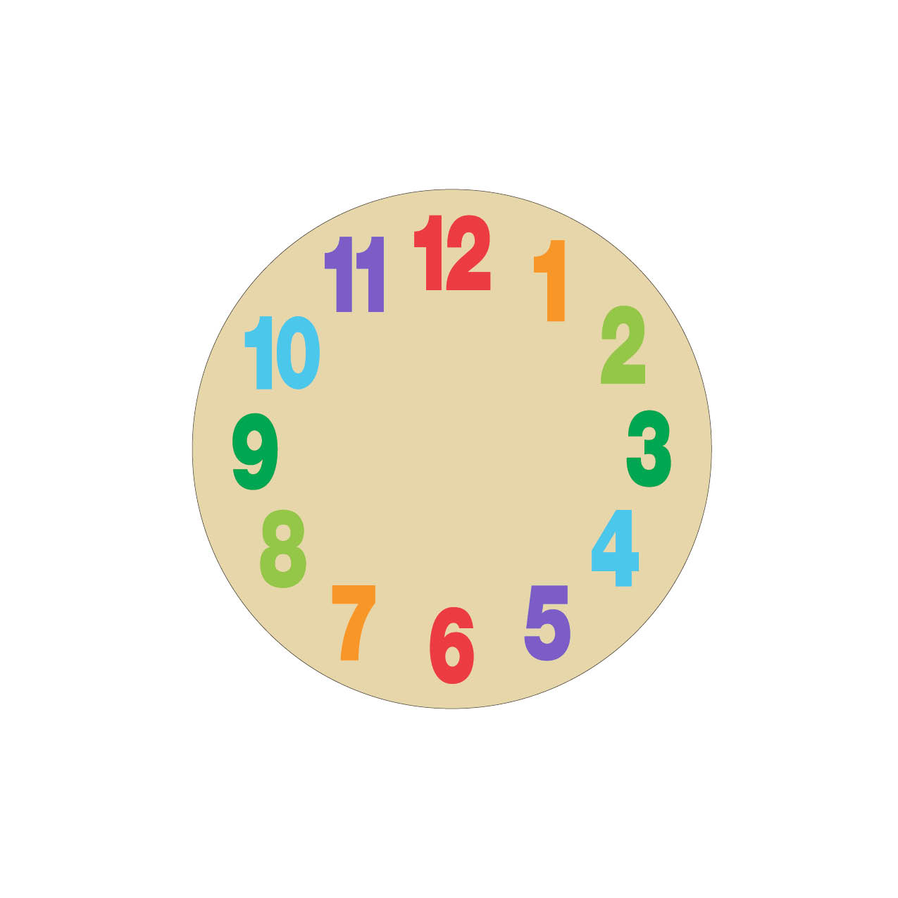 Analogue Clock Face Blank In Color - ClipArt Best