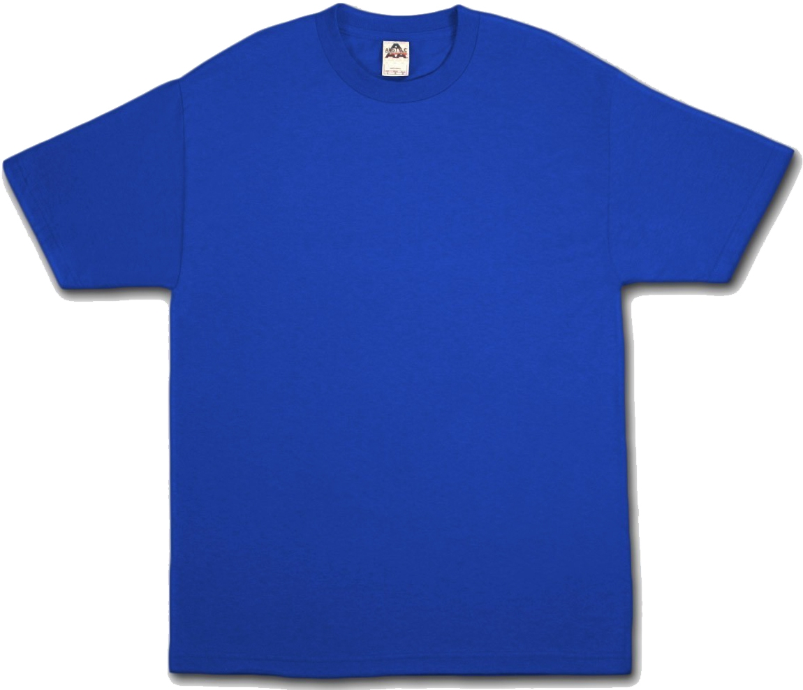 Royal Blue T Shirt Template