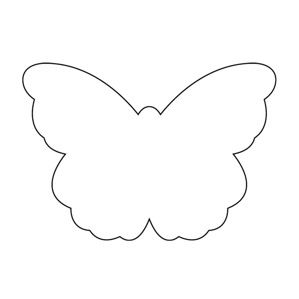 Outline Card Butterfly Outline Card Using
