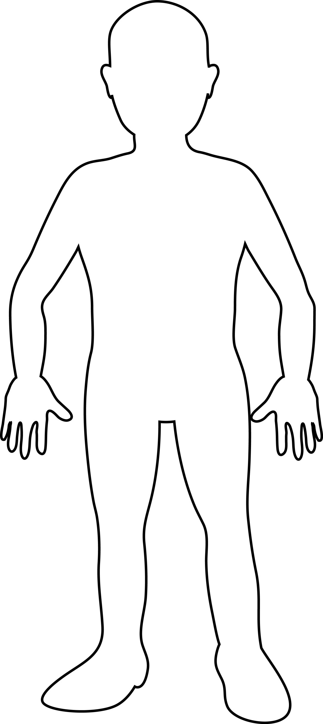 Outline Of Person ClipArt Best