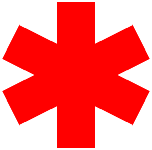 Red Star Of Life clip art - vector clip art online, royalty free ...