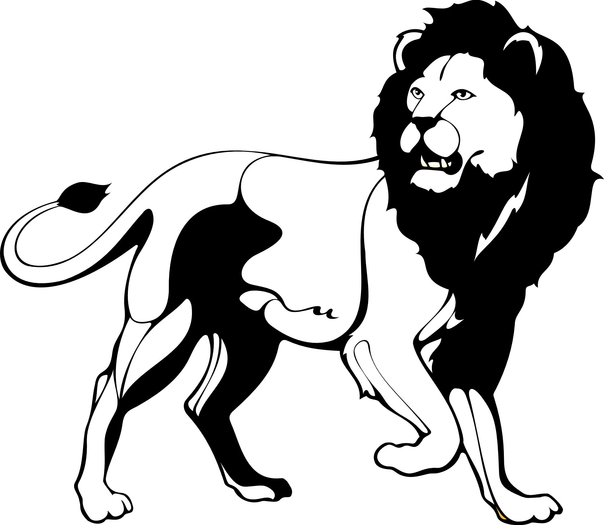 Line Art Lion : Lion drawing black and white clipart best