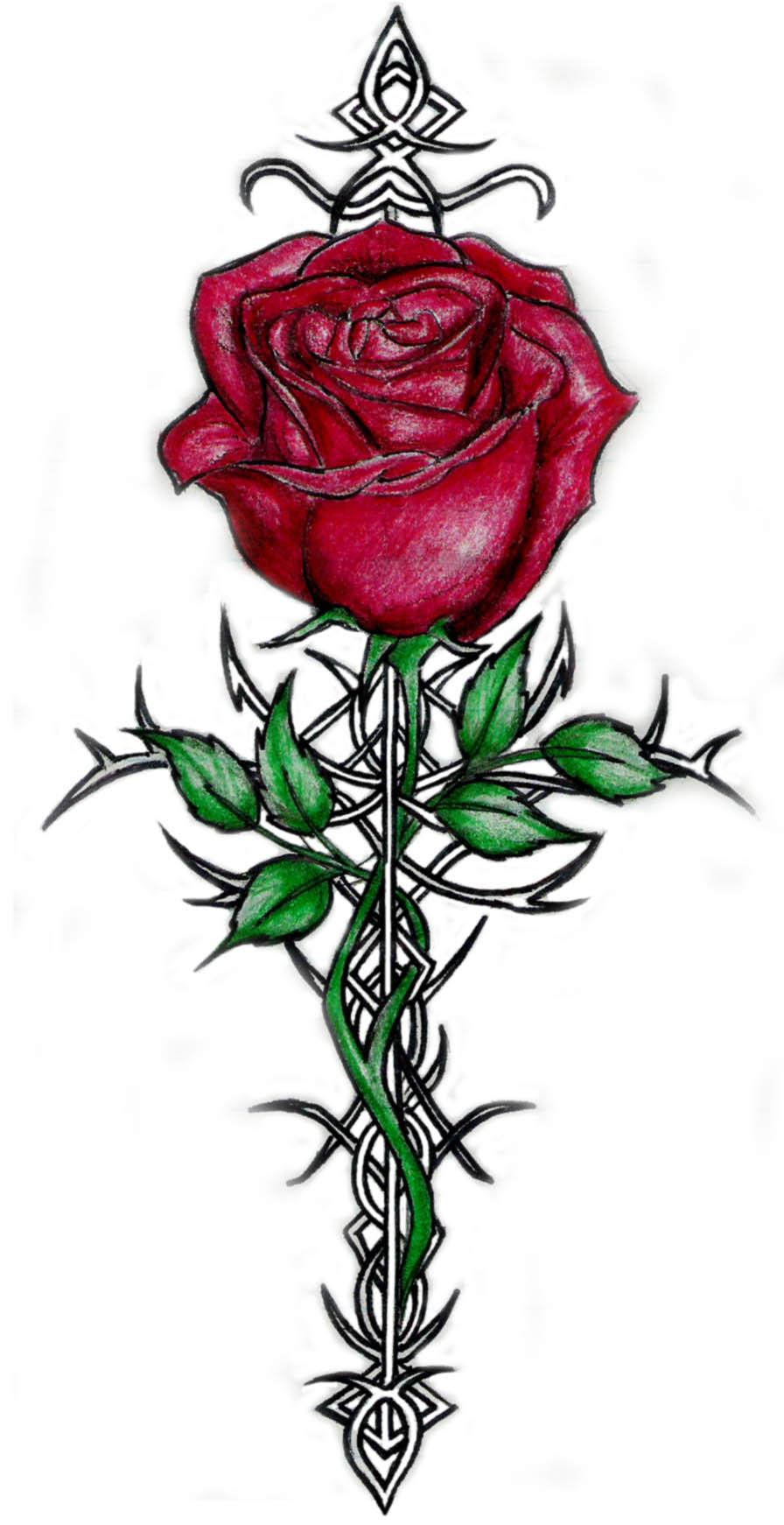 free rose tattoos clipart best. Black Bedroom Furniture Sets. Home Design Ideas