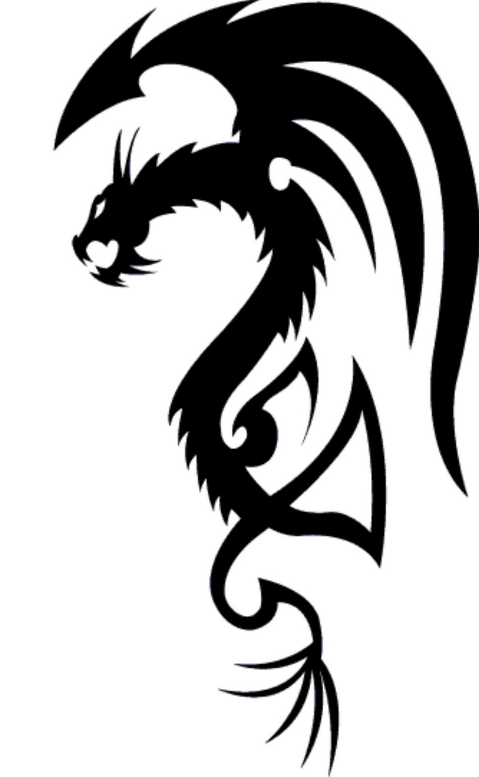 Simple Dragon Tattoo Image - ClipArt Best