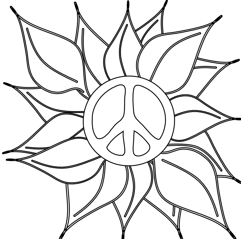 cool peace sign coloring pages-#13