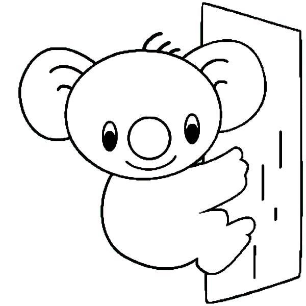 koala face outline the image kid has it. Black Bedroom Furniture Sets. Home Design Ideas