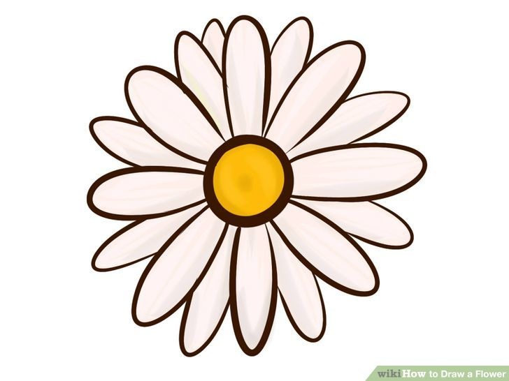 Easy flowers to draw clipart best for How to draw a cute flower