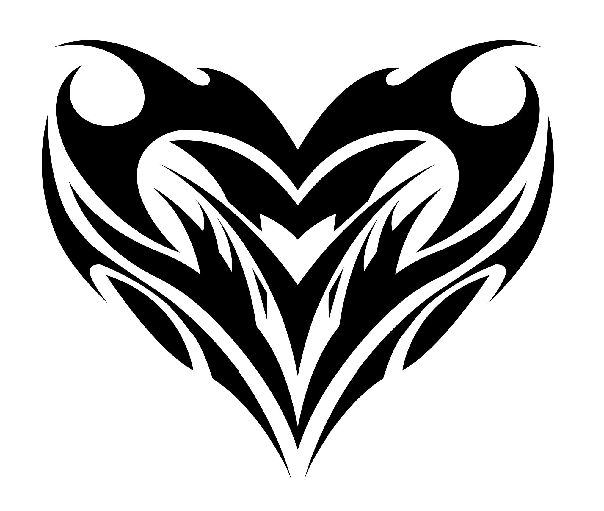 Drawings Of Tribal Hearts Tribal Heart Drawings ...