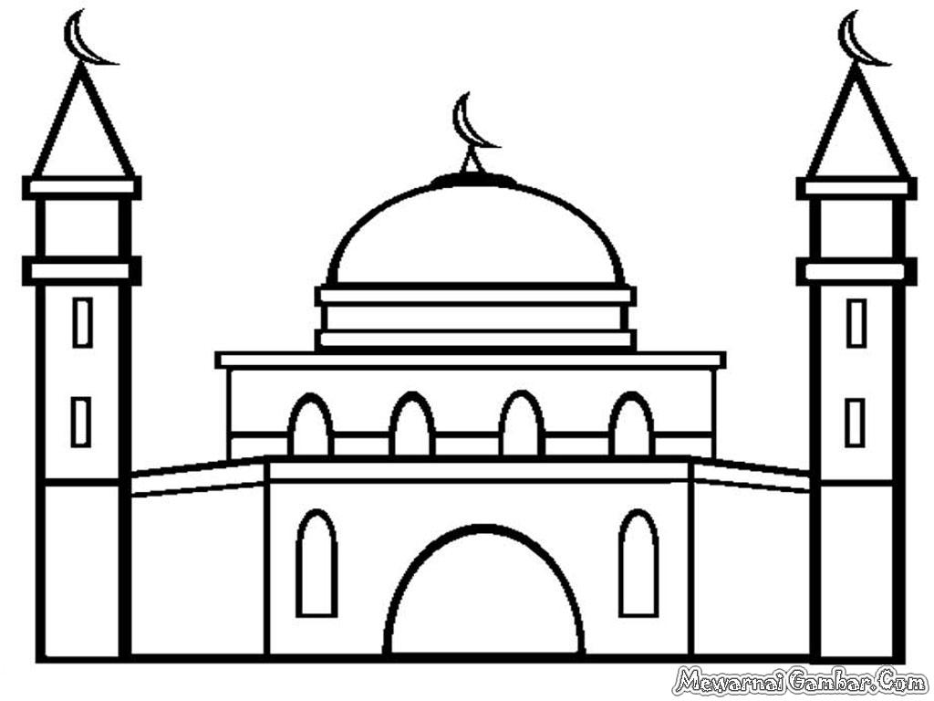 Gambar Mewarnai Masjid Gambar Mewarnai | Jos Gandos Coloring Pages ...